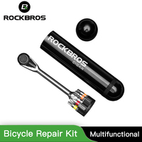 ROCKBROS Multifunctional Bicycle Repair Kit Screwdriver Torque Wrench MTB Highway Carbon Ratchet Chassis Mtb Tools