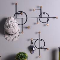 Железный крючок Скандинавское креативное искусство настенные американские ретро декоративные вешалки для пальто стойка для ключей настен...
