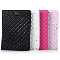 Hot Sale PU Leather Flip Protective Case Metal Crown Rivet Sleep Function Cover For IPad Air