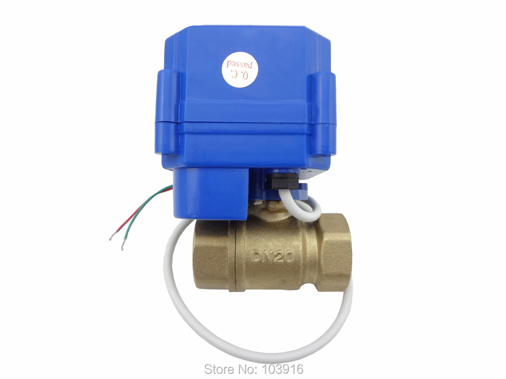 Motorized ball valve 2 way 12v dn20 reduce port with for 1 motorized ball valve