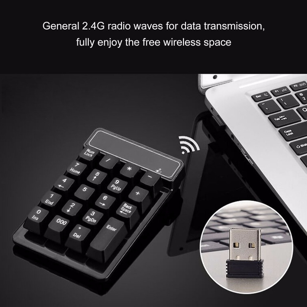 2.4G Wireless Mini Numeric Keypad 19 Keys USB Mini Digital Keyboard Ultra Light Number Pad For Desktop <font><b>Notebook</b></font>
