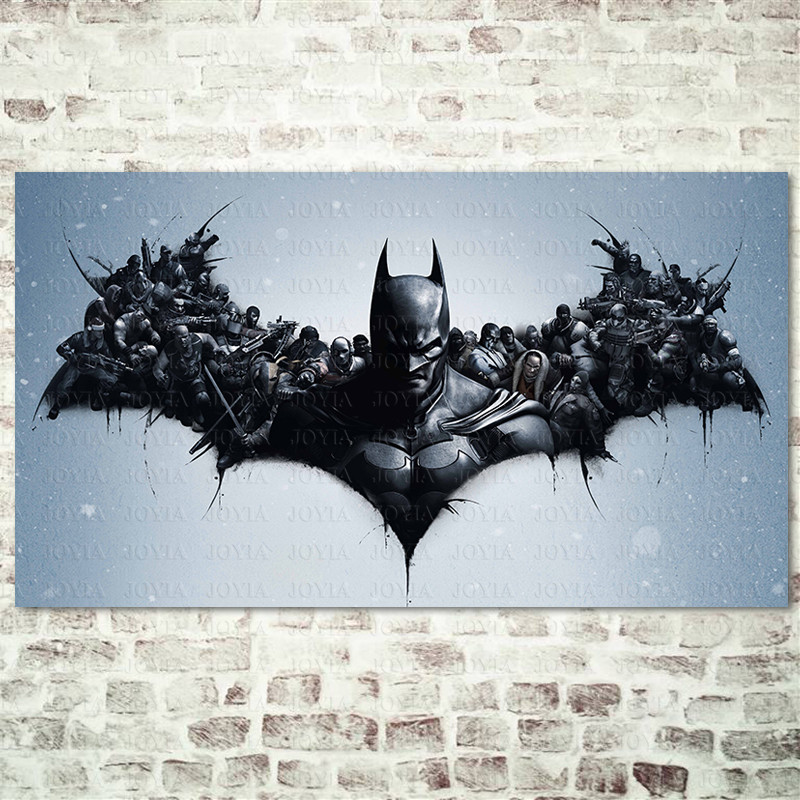 Batman Arkham Origins Poster, Heroes Gaming Poster, Black Art Prints Video Games Wall Art Picture, Home Decor On Wall Large Size 1