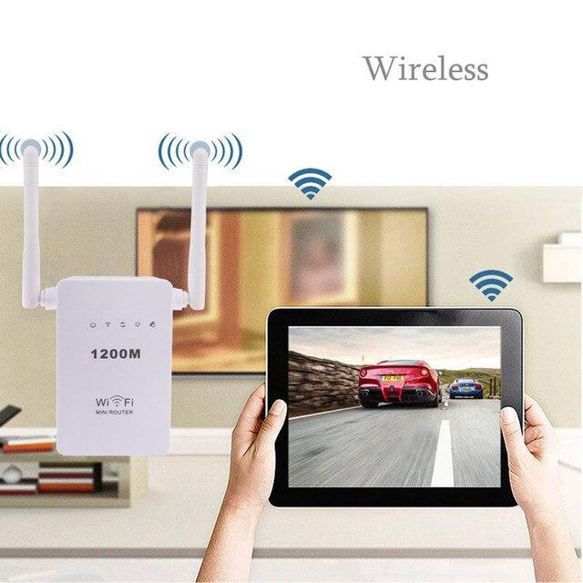 300 Мбит/С Wireless N Wi-Fi Ретранслятор AP Range Extender Booster Dual Band Signal Extender ЕС Plug Поддержка Router Client Bridge AP