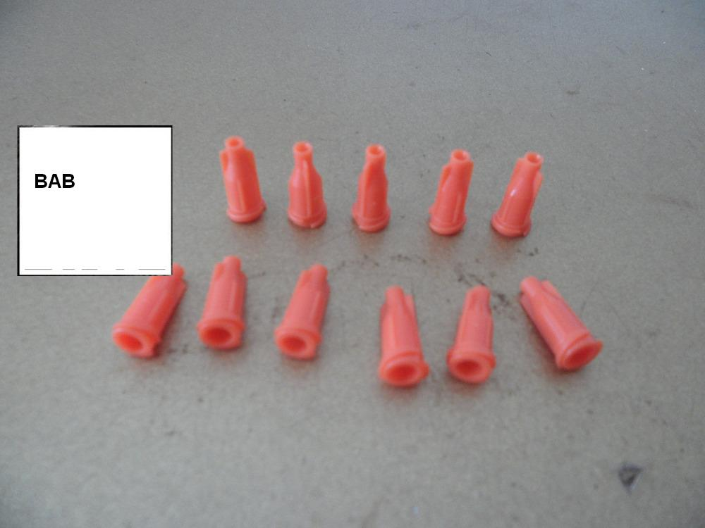 Red color Syringe Tip Caps dispensing syringe barrel tip cap with Luer Lock Screw Type Connection