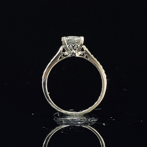 Image 2 - 925 sterling silver ring 1ct 2ct 3ct Luxury Diamond jewelry Moissanite ring Single row drill Wedding Party Anniversary Ring