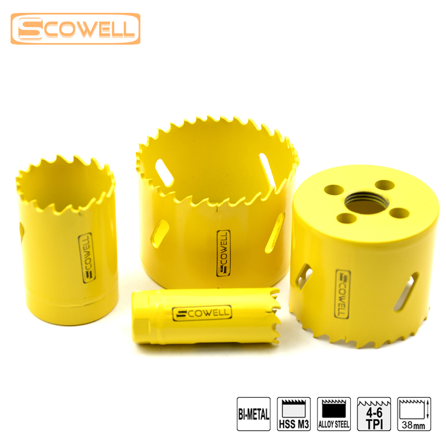 40% Off FREE SHIPPING SCOWELL Bi-metal Hole Saw Cutter Diameter From 38mm To 60mm MetalCutting Holesaw  Without Arbor