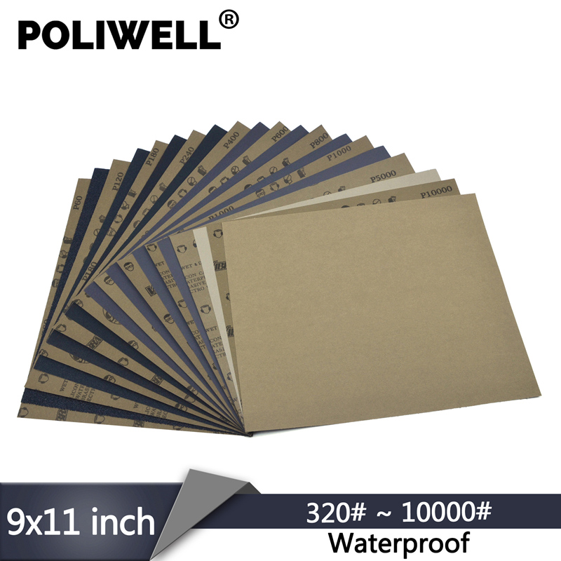 Pack Of 10 Sanding Sheets Abrasive Wet And Dry Paper 800 Grit