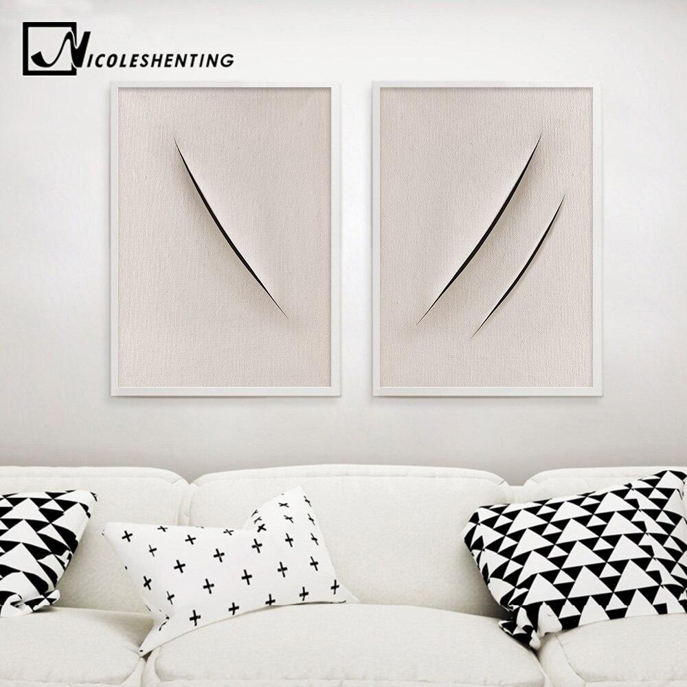 Резка Знаки абстрактный Плакаты отпечатки на холсте минималистский настенный Книги по искусству декоративная картина для Гостиная соврем...