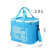 20L сумка для пикника на открытом воздухе, сумки-холодильники, ткань Оксфорд, водонепроницаемая, с изоляцией, для ланча, холодная коробка, EDF88