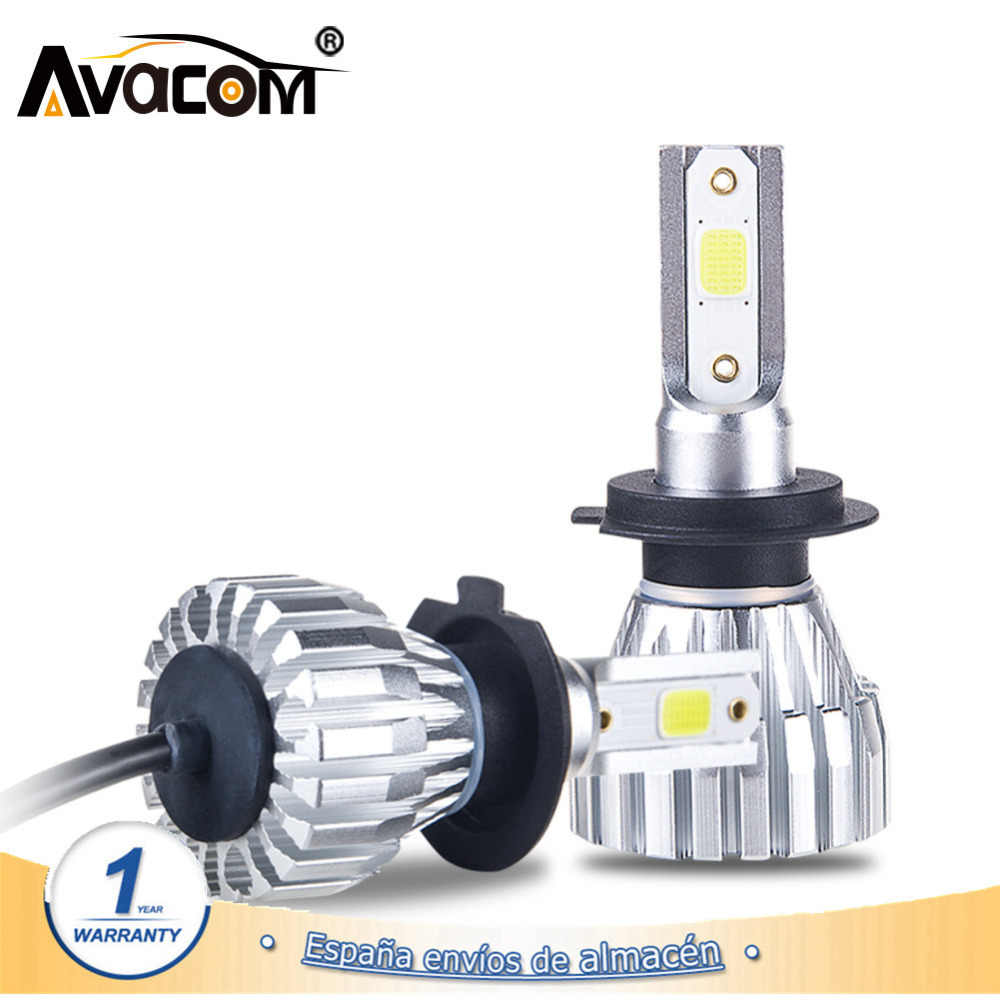 Avacom 2 PCS LED H7 4300K Car Headlight Lamps 12V H1 H11 9005/HB3 9006/HB4 COB 50W 24V H4 Ampoule LED Voiture Car Lights