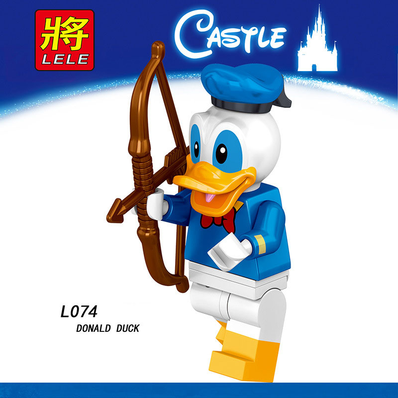 Single Sale LegoINGlys Anime Cartoon Figure DONALD DAISY DUCK TINKER BELL MINNIE MOUSE Bricks Building Block Toy Children Gifts