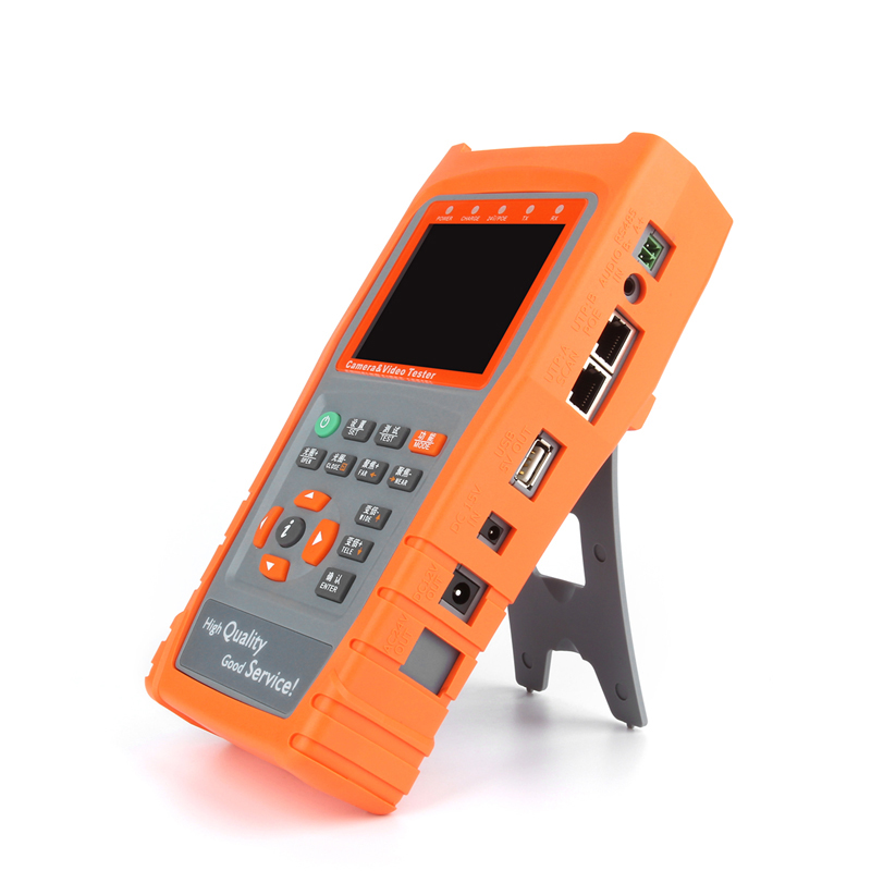Professional 3.5 LCD CVBS CCTV Monitor AHD Camera Tester Digital RS485 Flashlight PZ Control Address Scan Data Monitoring Meter