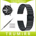 22mm 24mm Correa de Acero Inoxidable + Herramienta para Hombres Diesel las mujeres del Reloj Correa de Muñeca Pulsera de Eslabones Negro Extraíble plata