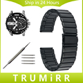 22mm 24mm Pulseira De Aço Inoxidável + Ferramenta para Homens Diesel mulheres Relógio de Pulso de Banda Strap Pulseira Todos Os Links Removível Preto prata