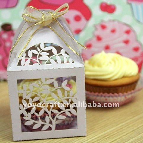 Decorative Cupcake Boxes Entrancing Laser Cut Large Outdoor Christmas Gift Decorations Cupcake Boxes Inspiration Design