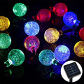 4.8M 20LEDs Crystal Ball String Waterproof Outdoor solar led string Holiday String fairy light Garden Decoration Solar Lamp