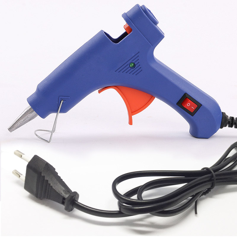 20 Вт ЕС Plug термоклей пистолет с 7 мм Клей-карандаш промышленных мини Пистолеты Электрический тепла Температура ремонт удобный инструмент нагреватель