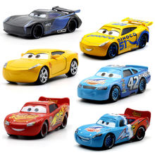 Disney Pixar Cars2 3 New 1:55Roles Jackson Storm Lighting McQueen Miss Fritter Cruz Ramirez Metal Car Toys child Birthdays Gift(China)