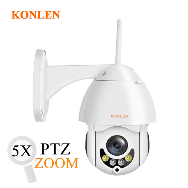cf4009293b0 KONLEN CamHi 1080P PTZ Mini WIFI Outdoor Dome IP Camera 5X Optical Zoom  Wireless HD 2MP CCTV Onvif Waterproof Audio TF Card