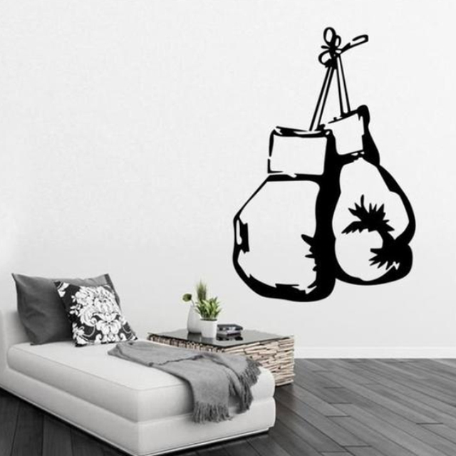 Brand new Boxing Glove Wall Sticker Anti Mold/Moisture/Mildew Mural Kitchen Bedroom Bathroom Wallpaper 60*40CM