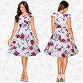 Primavera de las nuevas mujeres 2017 retro hot new dress mujeres ropa Robe Femme Vintage Oficina Verano de Bohemia Boho Del Partido de Tarde a5