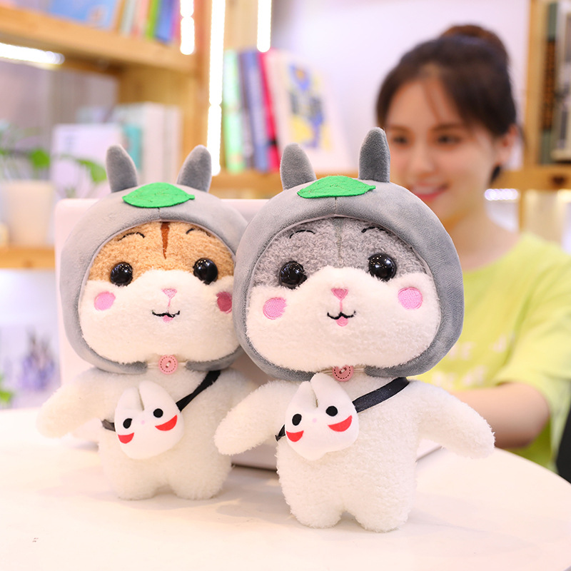 cute plush toy lovely hamster cosplay dinosaur elelphant cat pig soft stuffed doll birthday Christmas gift in Stuffed Plush Animals from Toys Hobbies