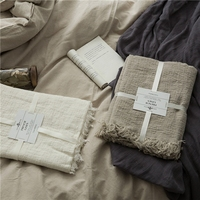 Скандинавский стиль collalily 100% постельное белье покрывало на диван современный геометрический полосатый плед серый постельные принадлежнос