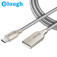 Elough 2.4A All Metal Type C Charger Cable For Xiaomi mi5 4C Huawei P9 Honor 8 Pro 6 LG Nexus 5 5X Wire Fast Charge USB Type-C