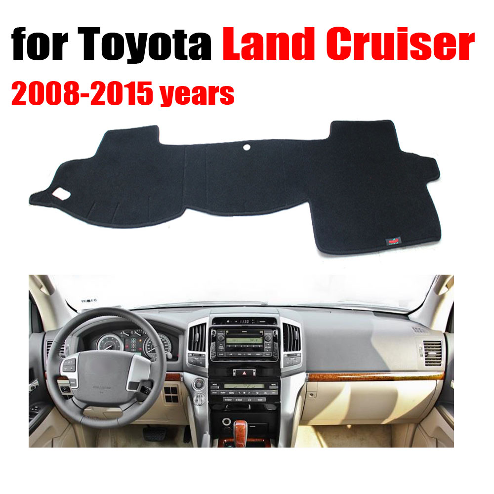 Car dashboard cover mat for toyota land cruiser 2008 2015 left hand drive dashmat pad