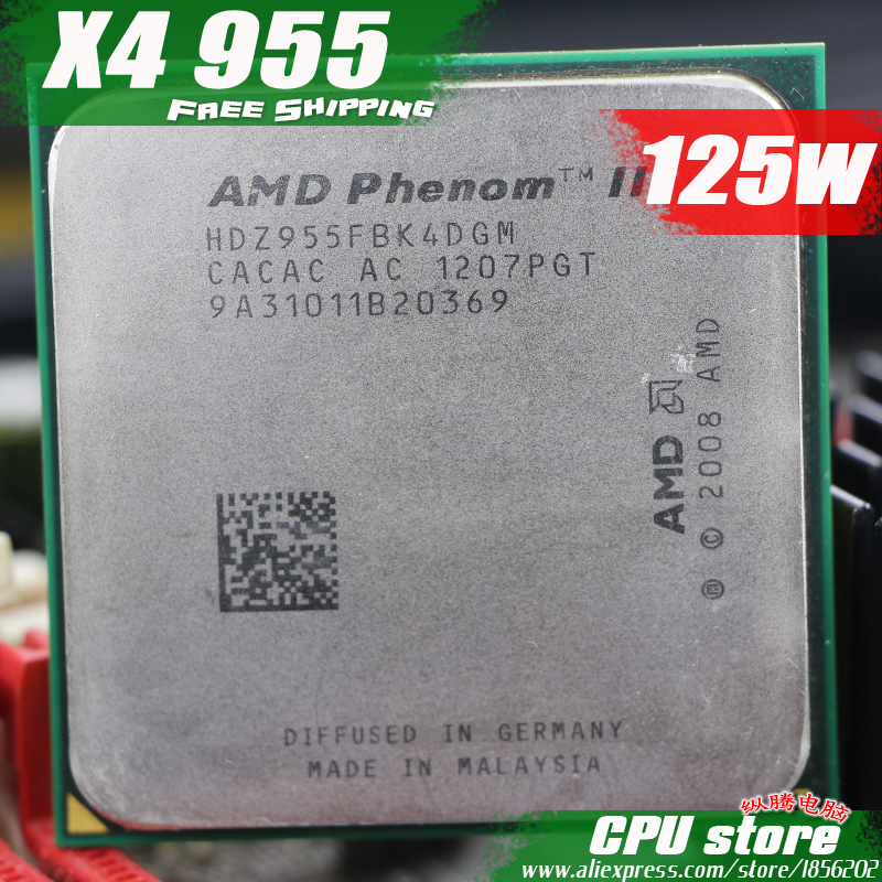 AMD CPU Socket Am3 Processor-Quad-Core AM2 Phenom-Ii X4 955 965 938-Pin Working Sell