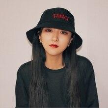 92d04cbf7ab8f3 Basin hat Korean wave embroidery Harajuku summer travel visor bucket hat  male summer summerscreen Korean student