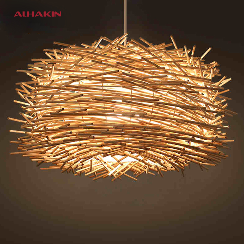 Wood Design Lighting Country Bird S Nest Of Cany Art