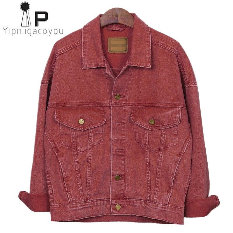 Harajuku ฤดูใบไม้ผลิ Denim แจ็คเก็ตสตรี 2019 ขนาดใหญ่ Vintage สีม่วงกางเกงยีนส์แจ็คเก็ตหญิงสุภาพสตรีลำลองพื้นฐานเสื้อผู้หญิง Streetwear-ใน แจ็กเก็ตแบบเบสิก จาก เสื้อผ้าสตรี บน   3