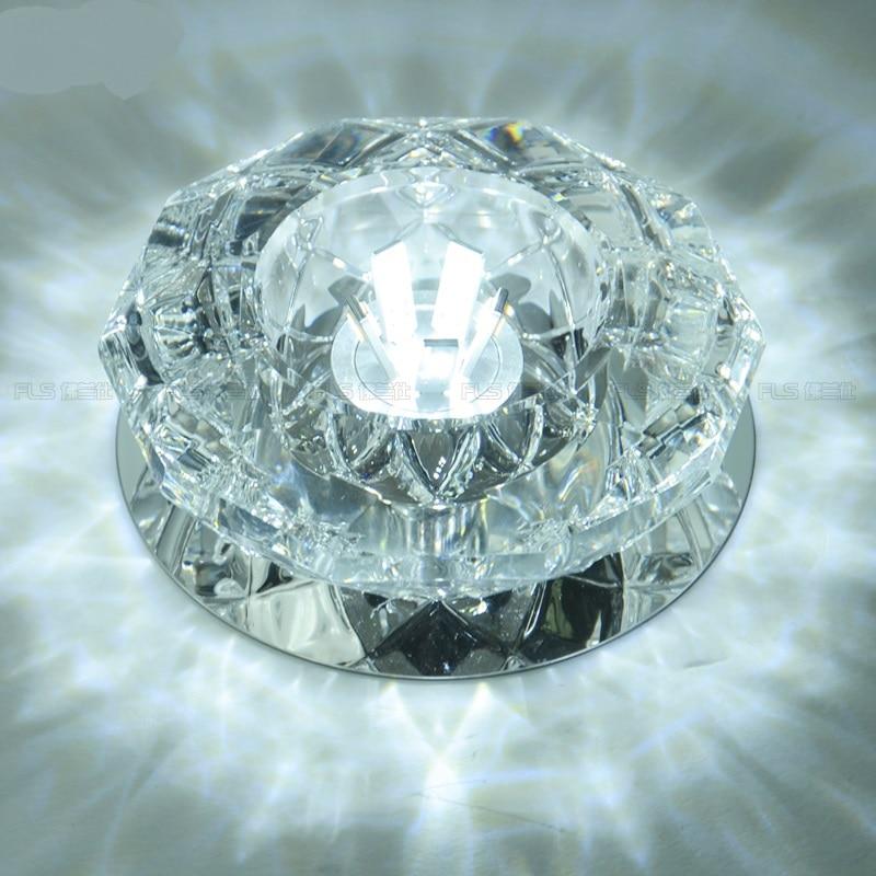 Deckenleuchten New Modern Style 5 Watt Glas Deckenleuchte Led Deckenleuchten Kristall Lampe Lichter Halle Flur Flurbeleuchtung Beleuchtung Sd120