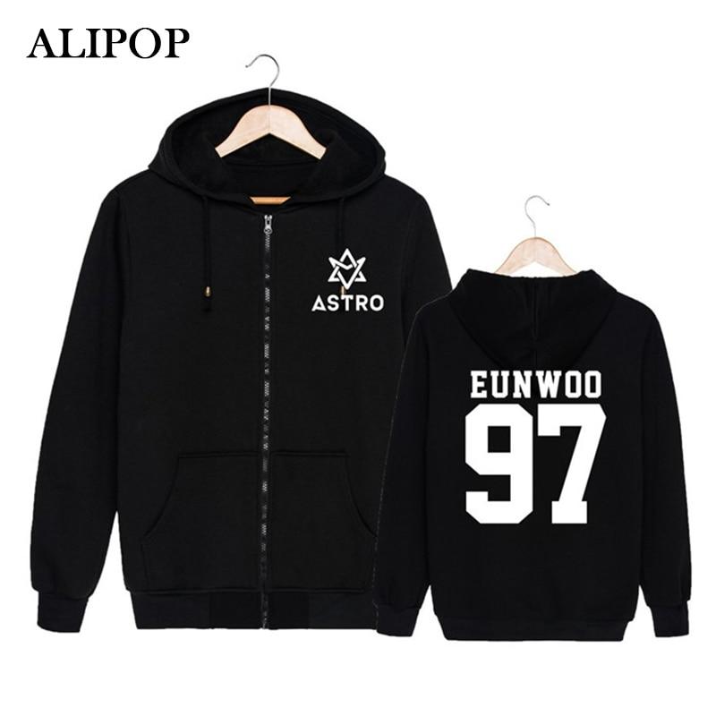 KPOP Korean Fashion ASTRO Spring Up 1st Mini Album 2nd Release Cotton Zipper Hoodies Clothes Zip-up Sweatshirts PT184 sweatshirt