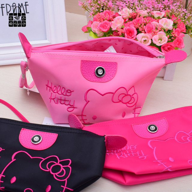 b4860ba1f 1pcs Women Portable Cute hello kitty Multifunction Beauty ZipperTravel Cosmetic  Bag Makeup Case Toiletry Pouch Cosmetic Cases