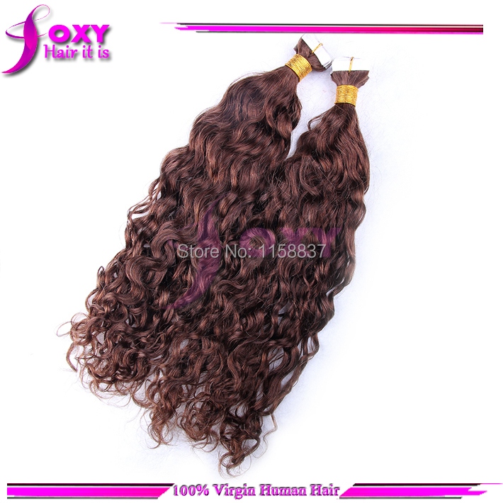 High quality 100 virgin malaysian curly tape hair extensions 100 virgin malaysian curly tape hair extensions human 40pieces100gpack8 32 4 dark brown free shipping in skin weft hair extensions from hair pmusecretfo Gallery