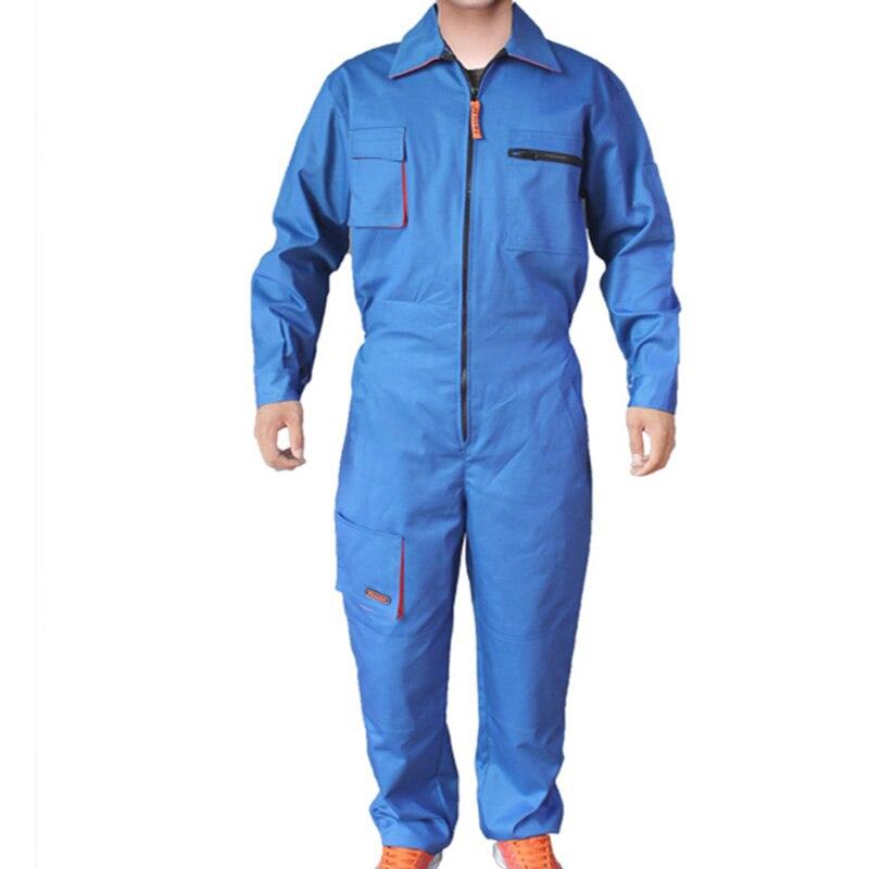 Męskie odzież robocza kombinezony z długim rękawem wysokiej jakości kombinezony pracownik mechanik maszyna naprawa samochodów spawanie elektryczne Plus rozmiar w Odzież BHP od Bezpieczeństwo i ochrona na title=