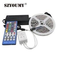 SMD 5050 RGBW led strip tape light IP20 (RGB+white) DC12V Flexible Ribbon 60Led/M 40key Controller+12V5A Power supply adapter