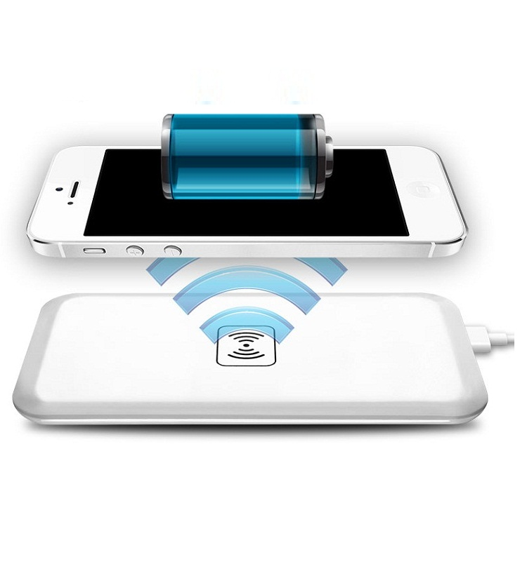 Universal <font><b>Qi</b></font> Wireless Charger Charging For <font><b>iphone</b></font> 7 Plus 5S SE <font><b>6</b></font> 6S for samsung htc lg Micro USB / Type C Receiver Adapter image