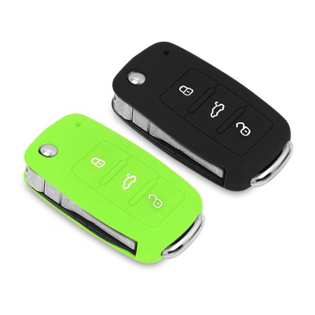 Silicone Remote Control Car Key Case Key cover for Volkswagen VW New Bora,Passat, Sagitar,Golf,Polo, Lavida, Tiguan,Touareg