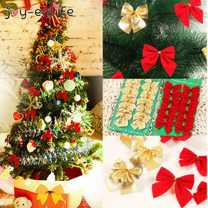 12pcs/lot Pretty Bow Tie Christmas Tree Ornaments Christmas Pendant Tree Decoration Baubles 2020 New Year Decorations Supplies
