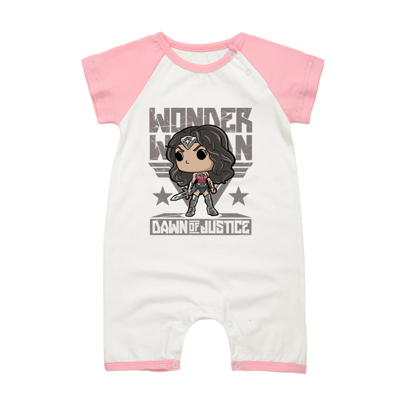 2017 New Fashion Newborn Baby Rompers Cotton Summer Boy Girl WONDER WOMAN Print Clothing Infant Toddler Jumpsuits Babies