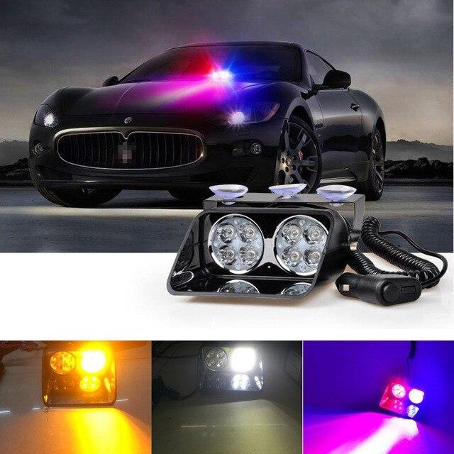 c69af9743 الأخبار الفيديو 02010 رخيصة بالجملة dc 12 فولت 8 المصابيح ضوء إشارة سيارة  شاحنة داش الطوارئ ستروب تحذير ضوء فلاش led فلاش ضوء