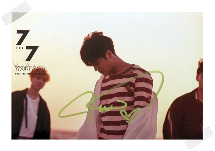 signed GOT7 GOT 7 Jackson  autographed photo  7 FOR 7 6 inches free shipping 102017B got7 got 7 jb autographed signed photo flight log arrival 6 inches new korean freeshipping 03 2017