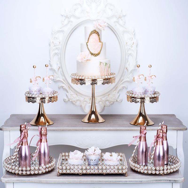 3pcs-6pcs Brand new Pearl & mirror cake stands set fondant cupcake wedding table decorating tools gold/ silver color3pcs-6pcs Brand new Pearl & mirror cake stands set fondant cupcake wedding table decorating tools gold/ silver color