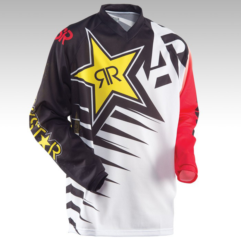 2018 Rock Star Moto Jersey MX MTB Off Road Mountain Bike DH Bicycle Jersey DH BMX Motocross Jersey 3 Color