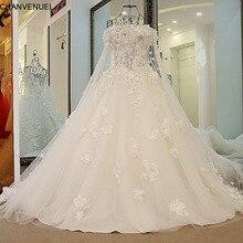 LS57009 Romantic Bridal dresses 2016 with Long Cape Ball Gown Corset Back Robe De Mariee Online