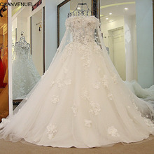 LS57009 Romantic Bridal dresses 2016 with Long Cape Ball Gown font b Corset b font Back