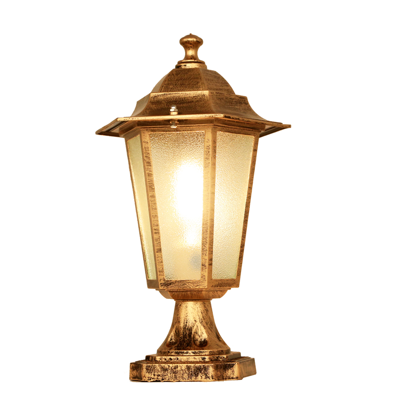 Europe nordic style outdoor pillar lights decor light for Landscape pillar lighting